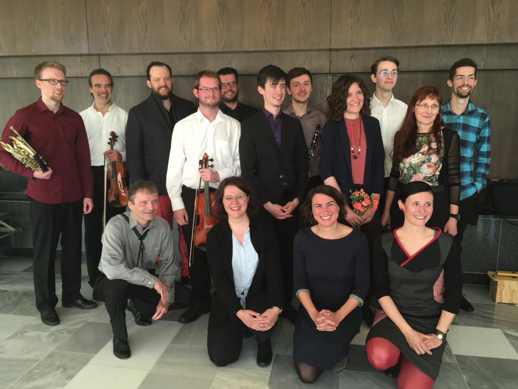 KlangWerkRaum team and Maestro Nelsons